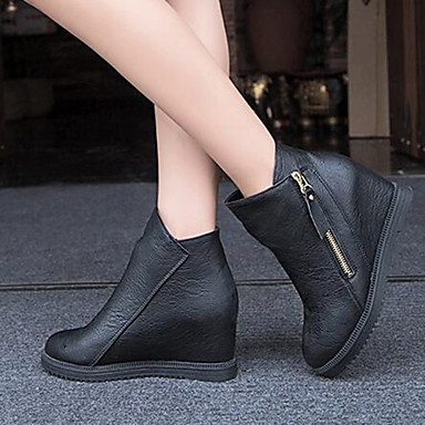 s shoes new arrival zipper all match wedge heel