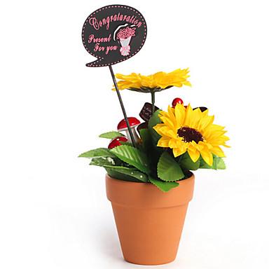 Mousse de polystyr ne tournesols fleurs artificielles de for Plante artificielle solde