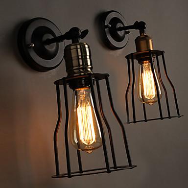 Buy E27 220V 14.5*25CM 5-8㎡ Creative Head Bed Titanium Metal Wall Lamp Light LED