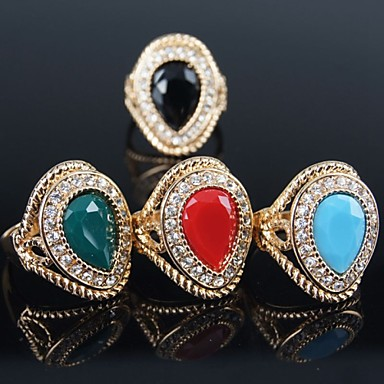 Mujer anillos de dise o moda joyer a de disfraz chapado en for Disenos de joyas en oro