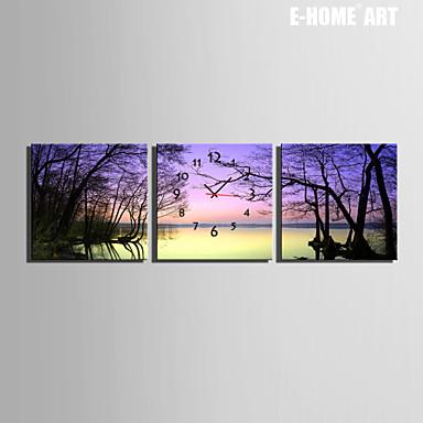 Buy E-HOME® Dead Lake Clock Canvas