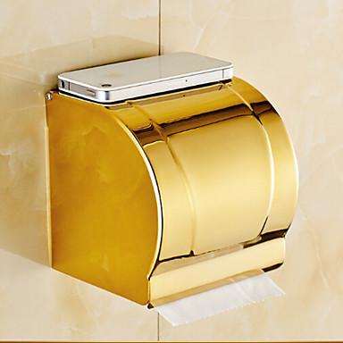 Soporte para papel higi nico ti pvd montura en pared 13 12 for Accesorios bano papel higienico