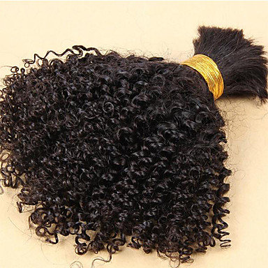 luffy hair unprocessed brazilian kinky curly bulk hair no