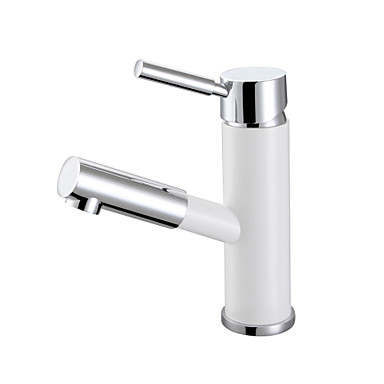 Bathroom Basin Sink Mixer Brass Chrome White Single Handle Lever With Pull Out Sprayer Sink