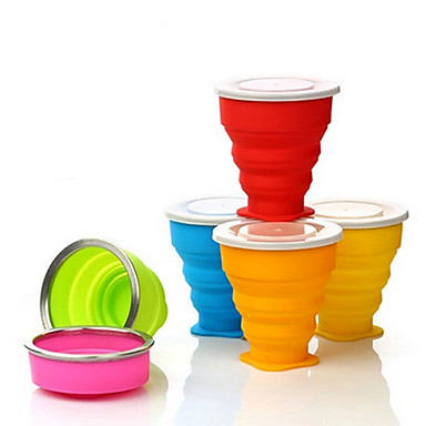 Buy Travel Bottle & Cup / Toothbrush Container/Protector Drink Eat Ware Waterproof Silica Gel