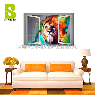 Buy 3D Wall Stickers Decals, Cool Lion Decor Vinyl