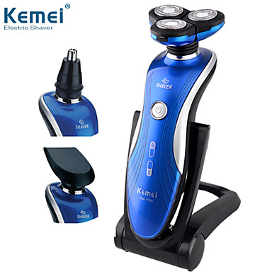 Brilliant Km 1150 3 In1 Washable Rechargeable Electric Shaver Triple Blade Hairstyles For Men Maxibearus