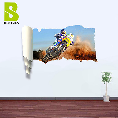 Buy 3D Wall Stickers Decals, Motorcycle Race Decor Vinyl
