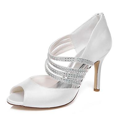 Womens Wedding Shoes Heels Platform Heels Wedding Dress Ivory White 4796199 2017 3959