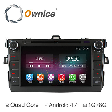 Buy 8 Inch 2 Din In-Dash Car DVD Player Toyota Corolla 2006-2011 Quad Core Pure Android 4.4.2 GPS Navigation Radio