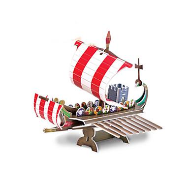 Buy Jigsaw Puzzles 3D Building Blocks DIY Toys Warship Paper Red / Khaki Model & Toy