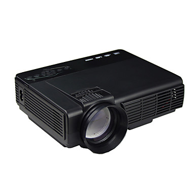 Powerful q5 lcd home theater projector wvga 800x480 68 for Small powerful projector