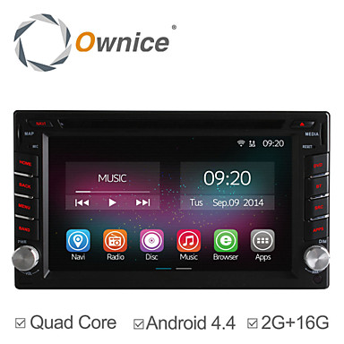 Buy 6.2 Inch In-Dash 2 Din Universal Car DVD Player Quad Core CPU Pure Android 4.4.2 OS GPS Navigation Radio