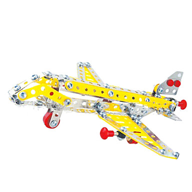 Buy Jigsaw Puzzles 3D / Metal Building Blocks DIY Toys Aircraft 18Metal Red Yellow Silver Model & Toy