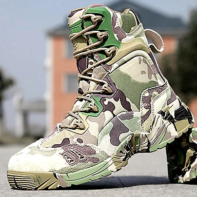 Men's Shoes Amir 2017 Hot Sale Outdoor/Work Leather/Synthetic Camouflage Color Hard-wearing Combat Boots