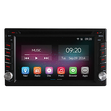 Buy 6.2 Inch 2 Din In-Dash Car DVD Player Nissan Universal Quad Core CPU Pure Android 4.4 OS GPS Navigation Radio