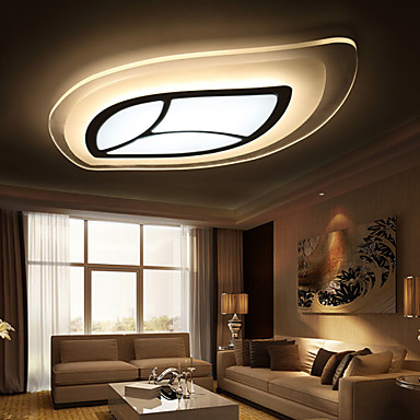 30W Modern Contemporary LED Metal Flush Mount Living Room