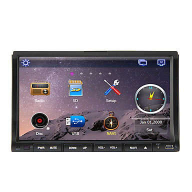 Buy 7-inch 2 Din TFT Screen In-Dash Car DVD Player Bluetooth,Navigation-Ready GPS,iPod-Input,RDS