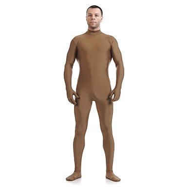Buy Zentai Suits Ninja Cosplay Costumes Brown Solid Leotard/Onesie / Catsuit Lycra Spandex Unisex Halloween Christmas