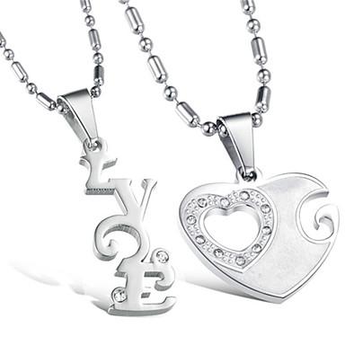 Buy Vilam® Zinc Alloy Love Heart Couple Necklaces Super Shining Best Friends