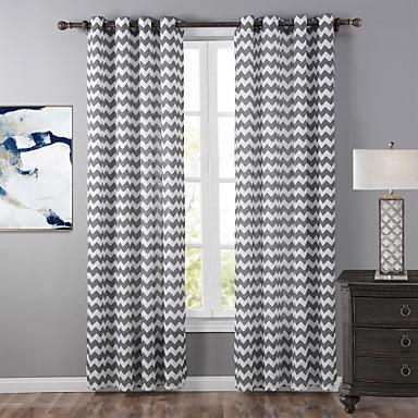 Un Panneau Moderne Rayure Neutre Salle De S Jour Polyester Panneau Rideaux Rideaux De 4899462
