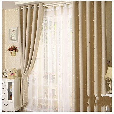 little star one panel country living room polyester sheer curtains shades 4914459 2016