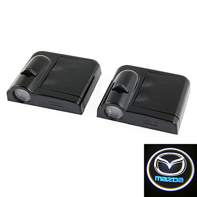 Buy 2x White Mazda Wireless car door LED projection projector light courtesy ghost