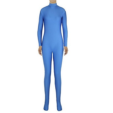 Buy Zentai Suits Ninja Cosplay Costumes Blue Solid Leotard/Onesie / Lycra Spandex Unisex Halloween Christmas