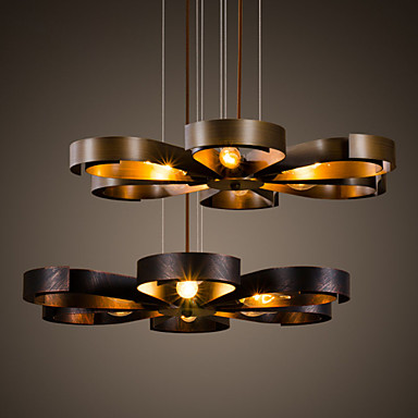 Retro classic metal ceiling lights simple dining room for Retro light fixtures kitchen