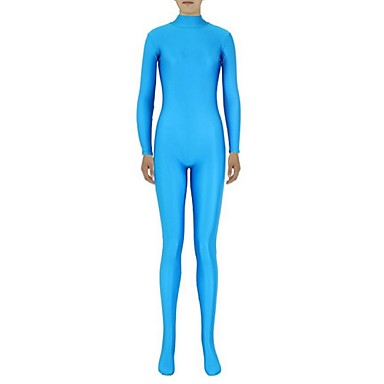 Buy Zentai Suits Ninja Cosplay Costumes Sky Blue Solid Leotard/Onesie / Lycra Spandex Unisex Halloween Christmas