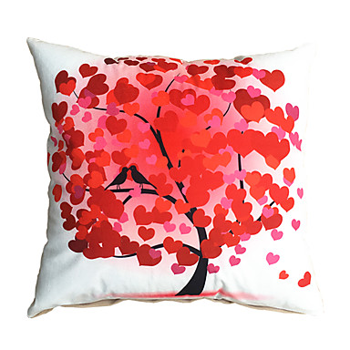 Red Design Throw Pillows : 3D Design Print Red Tree Love Decorative Throw Pillow Case Cushion Cover for Sofa Home Decor ...