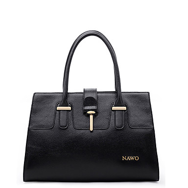 Buy NAWO Women Cowhide Tote Black-N153011