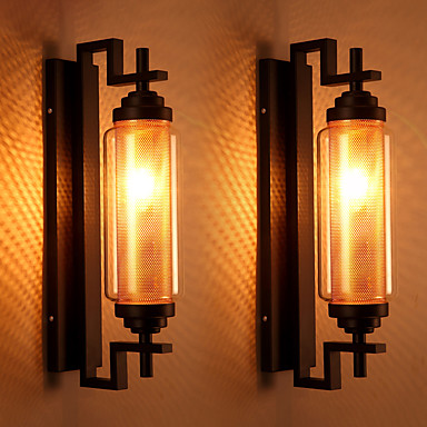 Vintage Style Bedroom Wall Lights : Vintage Loft American Style Retro Glass Wall Lamp Bedroom Lamp Outdoor Wall Light Fixture Lamp ...