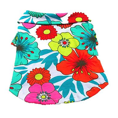 Buy Dog Shirt / T-Shirt Clothes/Clothing Multicolored Summer Floral Botanical Fashion
