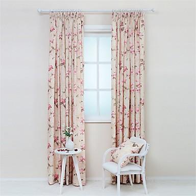 To paneler rustik / moderne / designer blomster / botanik som på ...