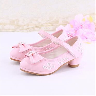 shoes dress pointed toe pu heels pink white