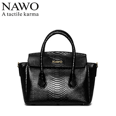 Buy NAWO Women Cowhide Tote Black-N152261