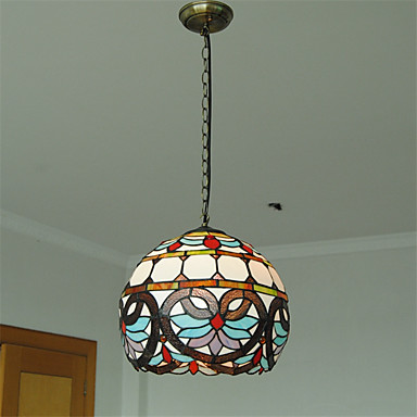 12inch retro tiffany pendant lights glass shade living room dining room light fixture 4980740. Black Bedroom Furniture Sets. Home Design Ideas