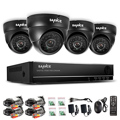 Buy SANNCE® 960H 8CH CCTV System Waterproof Video Recorder 800TVL Dome Home Security Camera Surveillance Kits