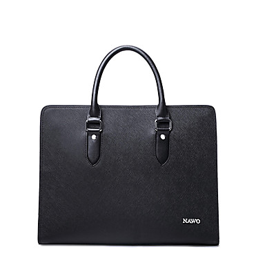 Buy NAWO Men Cowhide Tote Black-N153463M