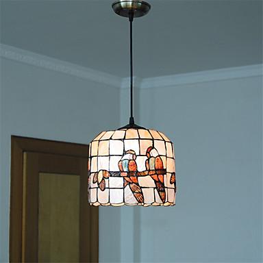 9 inch retro tiffany pendant lights shell shade living room dining room light. Black Bedroom Furniture Sets. Home Design Ideas