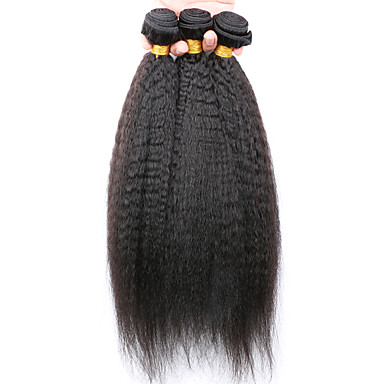 Buy 7A Kinky Curly Virgin Hair 3 Bundles/Lot, Cheap Unprocessed Mongolian Straight Human Bundles