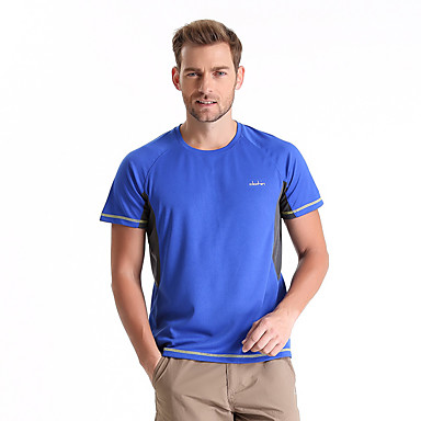 CLOTHIN® Men's Short Sleeve Running T-shirt Tops Breathable Quick Dry Anti-Insect Wearable Spring Summer Fall/Autumn Sports WearCamping /