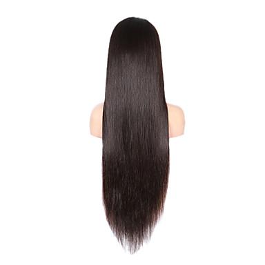 28inch long straight peruvian full lace human hair wigs