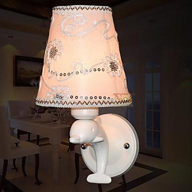 moderni bambini lampada da parete lampada da parete in resina comodino delfino tessuto creativo ...