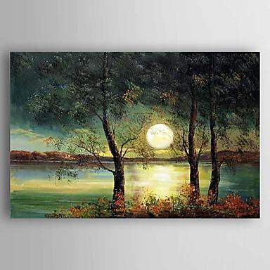 Dipinta a mano paesaggi dipinti ad olio modern un pannello for Quadri dipinti a mano paesaggi