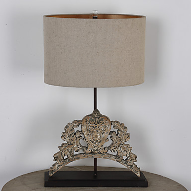 Traditional single head metal wooden table lamp rustic - Traditional table lamps for bedroom ...