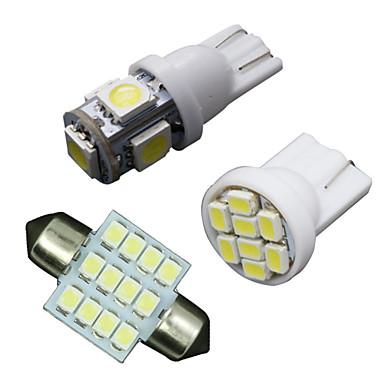 11pcs witte led verlichting interieur pakket voor t10 for Led verlichting interieur