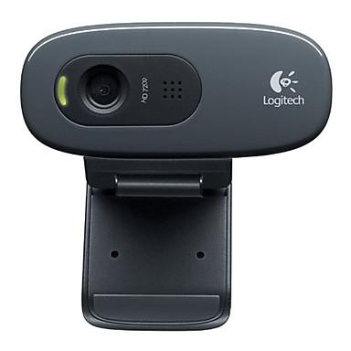 logitech webcam portable c270 de bureau la maison hd avec microphone de 5211812 2017. Black Bedroom Furniture Sets. Home Design Ideas