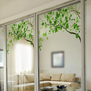 arbres feuilles contemporain film de fen tre pvc vinyl On decoration fenetre contemporain